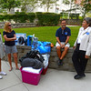 University of West Florida President Dr. Judy Bense chats with Early Childhood Education major Charity Graves, Kelly Williams and Ken Sitkowski at  Presidents Hall Friday, August 19, 2016 during Move-In Day at the University of West Florida.