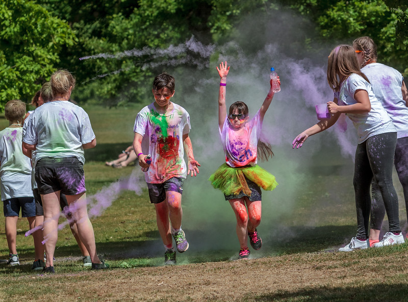 Ipswich Colour Dash 2017 - East Anglia Childrens Hospice's - Christchurch Park, Ipswich