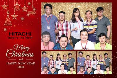Dịch vụ in ảnh lấy liền & cho thuê photobooth tại sự kiện tiệc noel của công ty Hitachi | Instant Print Photobooth Vietnam at Hitachi Christmas Party