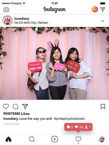 Chụp ảnh lấy liền và in hình lấy liền từ photobooth/photo booth tại sự kiện Honeymoon & Wedding Perfect 2018 | Instant Print Photobooth/Photo Booth at Honeymoon & Wedding Perfect 2018 | PRINTAPHY - PHOTO BOOTH VIETNAM