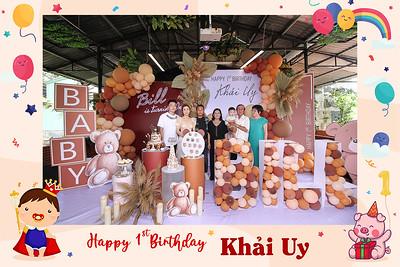 Dịch vụ in ảnh lấy liền & cho thuê photobooth tại Tiệc thôi nôi bé Khải Uy | Instant Print Photobooth Vietnam at Khai Uy's 1st Birthday