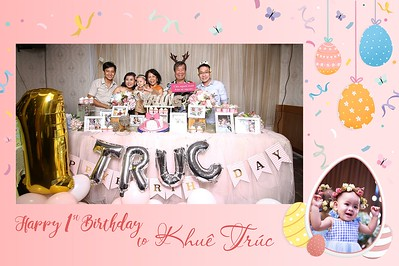 Dịch vụ in ảnh lấy liền & cho thuê photobooth tại  sự kiện tiệc thôi nôi bé Khuê Trúc  | Instant Print Photobooth Vietnam at Khue Truc's 1st Birthday Party
