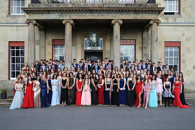 Year group photo at prom in North West