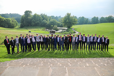 photography of boys at prom event