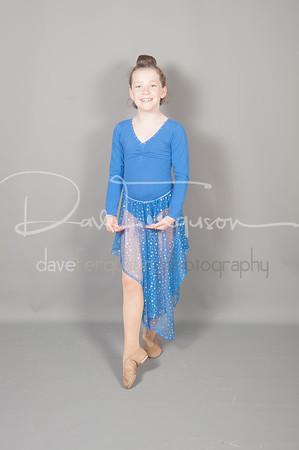 Blue Leotard and Skirt