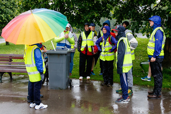 Participants and volunteers at the 18th Blackpool Parkrun.
