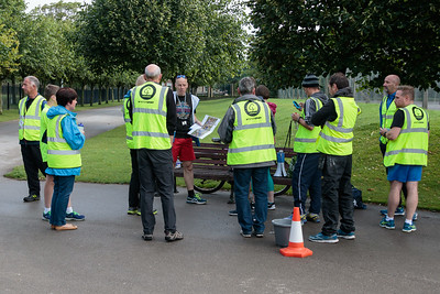 Volunteers and participants in the 23rd Blackpool Parkrun.