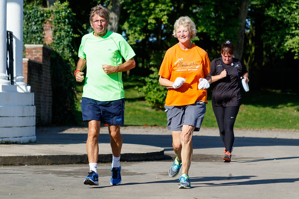 Participants and volunteers in the 29th Blackpool parkrun.