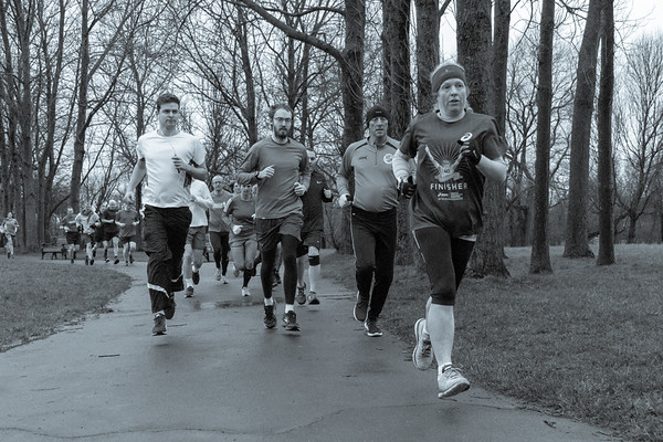 Participants and volunteers in the 46th Blackpool parkrun.