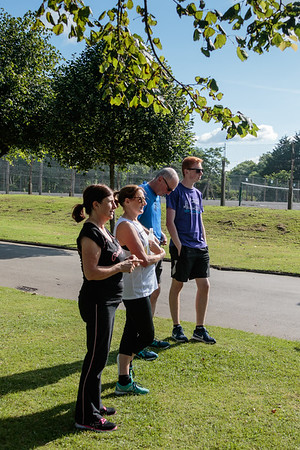 Participants and volunteers at the 21st Blackpool Parkrun.