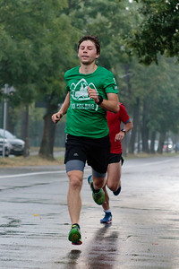 Participants and volunteers in the 217th Kraków Parkrun.