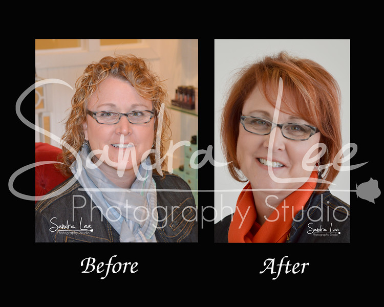 Before and After #1, Makeovers by Celebrity Stylist, Billy Yamaguchi at The Spa at The Inn at Bay Harbor Photographer, Sandra Lee, from Petoskey captured these before and after portraits.