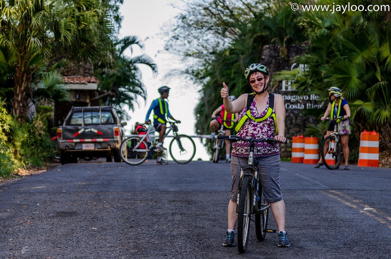 Start of the Bike Tour