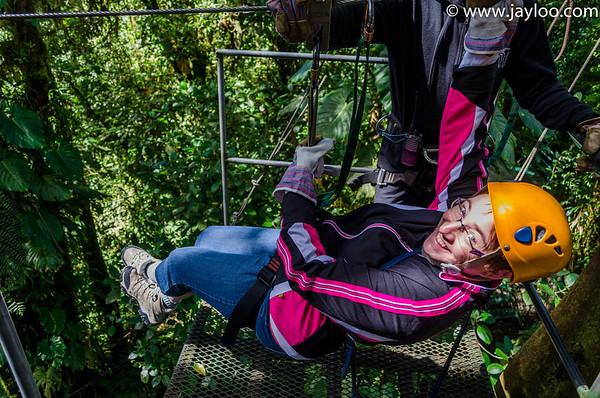 Barb PreTakeoff  - Canopy Tour Zip Lines