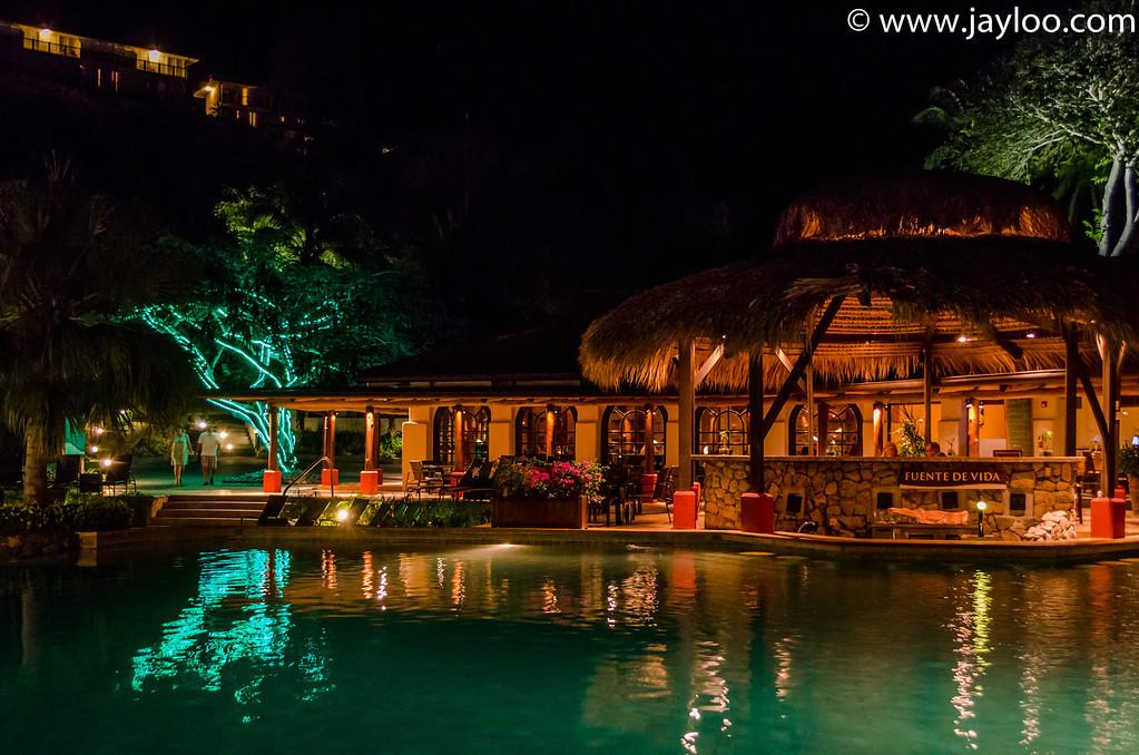 Pool Bar at Night at Hilton Papagayo