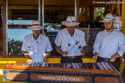 Locals Playing the Marimba in Costa Rica