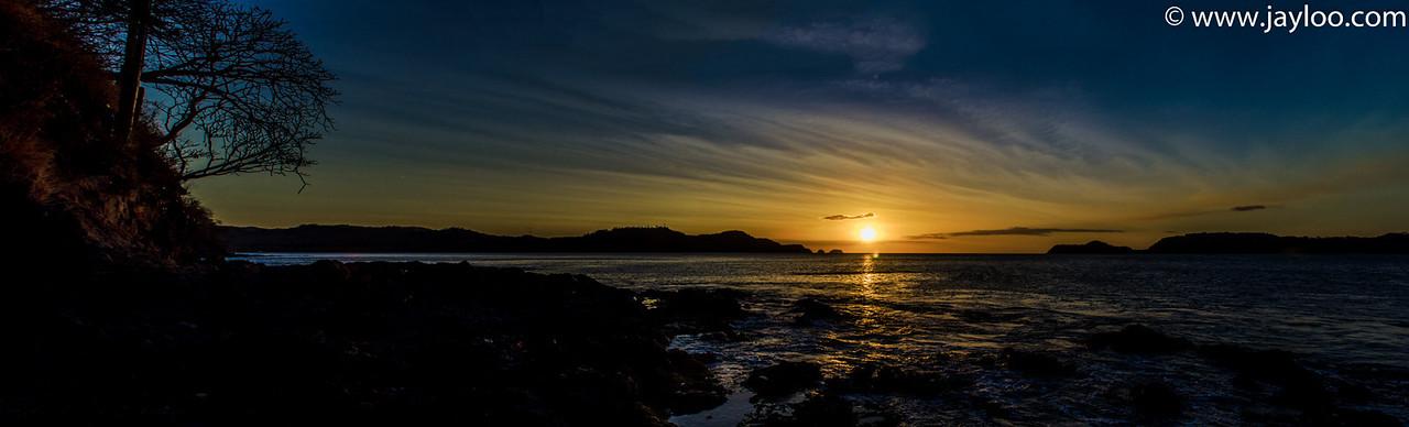 Sunset Panorama at Hilton Papagayo in Costa Rica