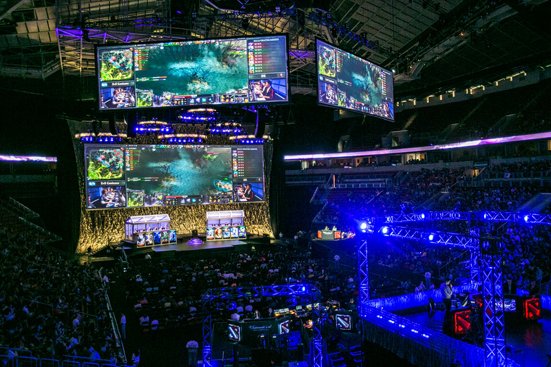 The International DOTA 2 Championships at KeyArena in Seattle