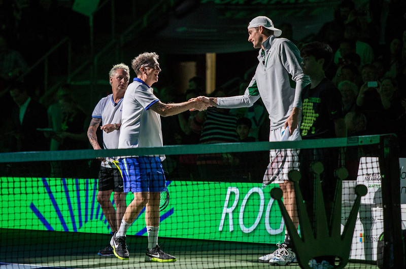 Bill Gates and Roger Federer vs Mike McCready and John Isner at Match For Africa 4