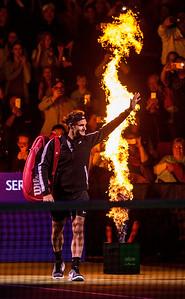 Bill Gates and Roger Federer vs Mike McCready and John Isner at Match For Africa 4