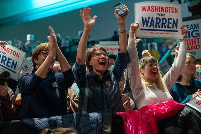USA – 2020 – Elizabeth Warren at Seattle Center