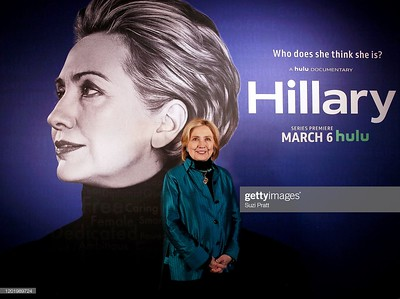 "PARK CITY, UTAH - JANUARY 25: Hillary Clinton attends the ""Hillary"" Reception at 2020 Sundance Film Festival at Kimball Terrace on January 25, 2020 in Park City, Utah. (Photo by Suzi Pratt/Getty Images for Hulu)"