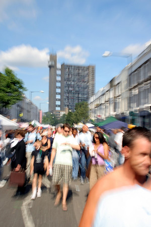 Trellick Tower at Notting Hill Carnival
