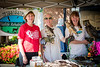"Marianne Wilson (left) with ""Sundancer"", a Broad Winged Hawk; Missy Flanagan with ""Rashi"", a Red Shouldered Hawk; and Kate Friedman (right) with ""Horton"", a Great Horned Owl keep a very sharp eye on visitors to the DeSoto County Earth Day Celebration on Saturday, April 23, 2016 in Hernando. These animals were rehabilitated by Mississippi Wildlife Rehabilitation volunteers who are looking forward to building a new rehabilitation facility."