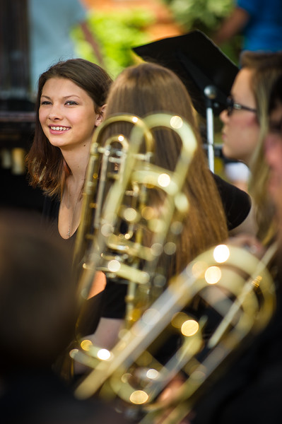 Skye Gilley prepares to perform with her bandmates in the Lewisburg High School Symphonic Band as part of the DeSoto County Earth Day Celebration on Saturday, April 23, 2016 in Hernando.