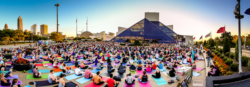Rock & Roll Hall of Fame - Yoga Event