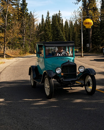 Model T Ford Fall Tour - Saturday, Sept 22, Elbow Falls - Bragg Creek. The Foothills Model T Ford Club, Calgary, Alberta is a chapter of the Model T Ford Club of America (MTFCA). It is also a member of the Alberta Association of Automobile Clubs Society (AAACS) and a member of the National Association of Antique Automobile Clubs of Canada (NAAACCC). The club is dedicated to the preservation, restoration and enjoyment of Model T Fords by all Flivver enthusiasts and contains a complete range of cars from 1909 to 1927, from speedsters to touring, roadsters, coupes, sedans and trucks.