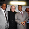 Elvis Mitchell, Timothy Greenfield-Sanders and Al Sharpton
