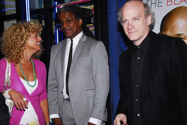 Sharon Pinkenson, GPFO, writer Elvis Mitchell and director Timothy Greenfield-Sanders