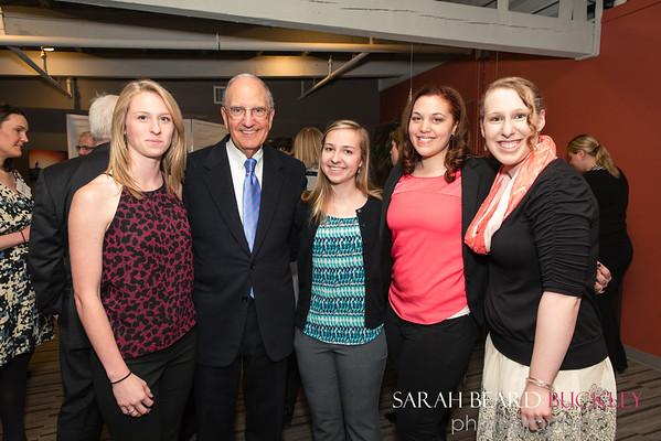 Kait Hall , Senator George Mitchell, Alanna Larrivee. Kendra Mayberry and Jordyn Cram