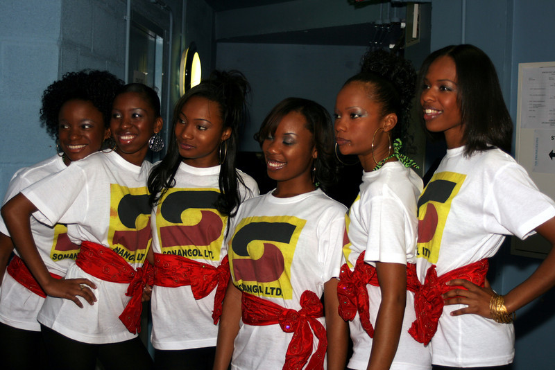 Backstage at Miss Angola UK 2007