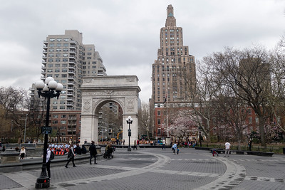 David Bowie was known to spend time in Washington Square