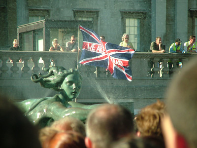 Vigil in Trafalgar Square, following the terrorist attacks on 7th July