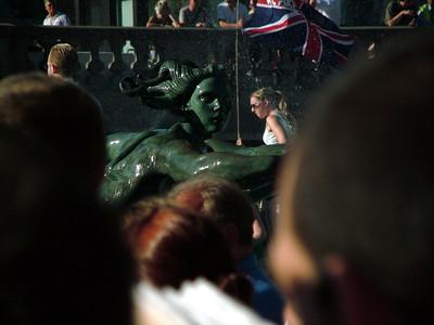 Vigil in Trafalgar Square, following the terrorist attacks on 7th July