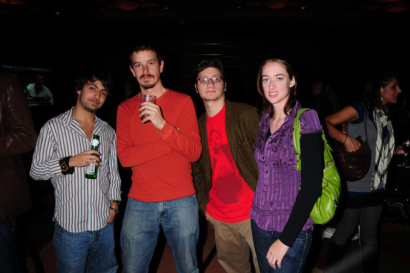 Jared Miller, Mebership Coordinator PFS, comedian Zack Lane, magician Jacob Jax, and Yvette Hope Production Coordinator PFS