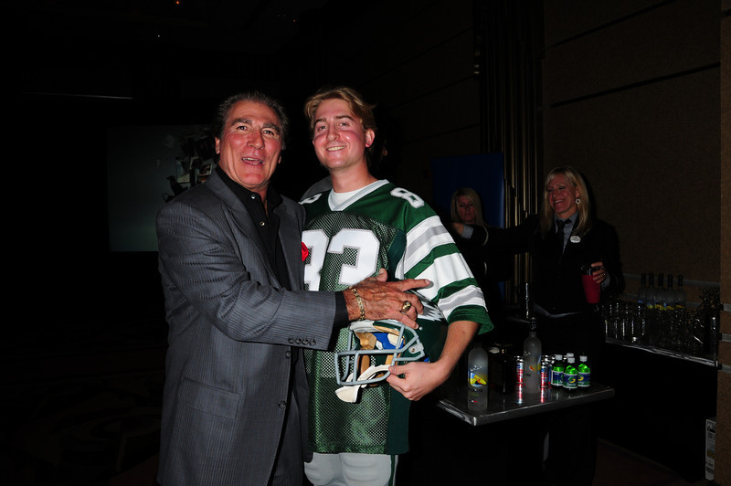 "Vince Papale and Matt Collier, who is wearing the actual Mark Wahlberg ""costume"" from the movie Invincible which is about Vince Papale's life."