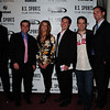 ?, Matthew Lacks, ESPN's Bonnie Bernstein, John O'Keefe, Ben Sturner, and Kevin Mcintyre on the Red carpet at the Prince Theater
