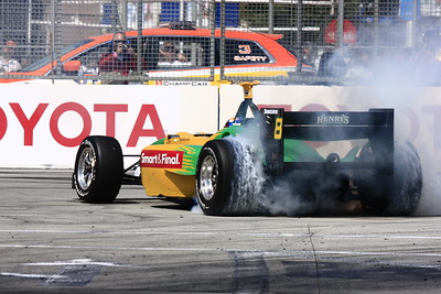 Will Power winner of the LBGP donut spin out