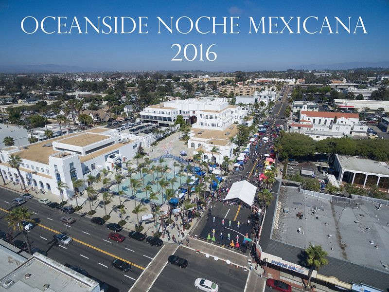 Aerial of Noche Mexicana Oceanside 2016