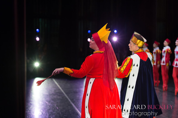 Ron Trell & Christine Marshall Dow as the King and Queen of Hearts