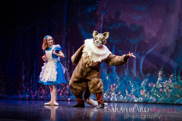 "Elizabeth Dragoni & Frederick Bernier as ""The Cheshire Cat"""