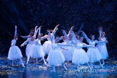 """Christmas Tree Forest,  """"Snowflakes"""" Choreography by George Balanchine, © The George Balenchine Trust"""