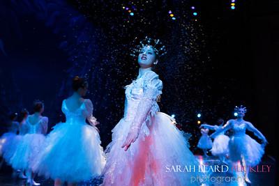 "Sarah Alpert, Christmas Tree Forest,  ""Snowflakes"" Choreography by George Balanchine, © The George Balenchine Trust"