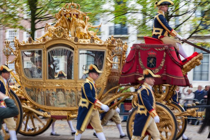 Dutch Queen, Prinsjesdag 2011, procession.