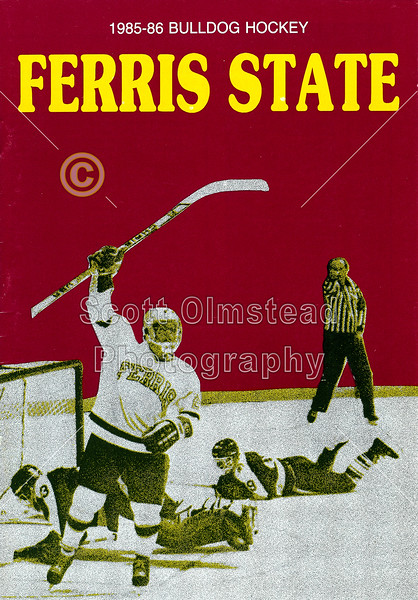 1985-10-08a Ferris State Bulldogs Media Guide (Front)