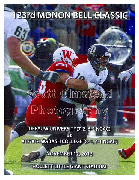 2016-11-12 DePauw at Wabash for the 123rd Monon Bell Classic
